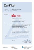 DERPART TRAVEL SERVICE: Erste deutsche Geschäftsreisebüro-Kette mit Zertifizierung für Informationssicherheit ISO 27001